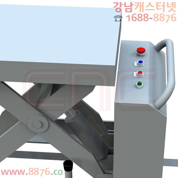 테이블리프트 이동식 AC전동 1단 500㎏용 앵글바퀴