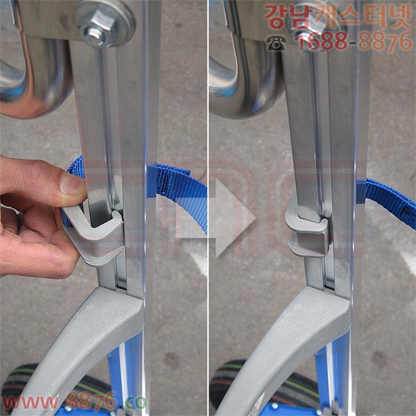 전동 계단용운반기 SAL 시리즈 스트랩(strap) 고정 방법