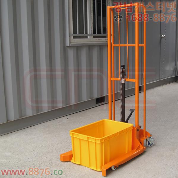 휴대용스태커 평지이동형 맞춤 150㎏용 플라스틱박스 NMC406용