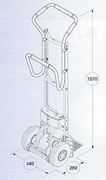 전동 계단용 운반 핸드카 리프트카(LIFTKAR) SAL ERGO 손잡이 규격