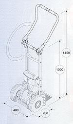 전동 계단용 운반 핸드카 리프트카(LIFTKAR) SAL FOLD 손잡이 규격